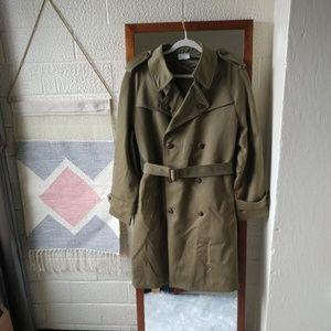Genuine Vintage 1980's German Military Trench Coat